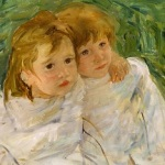 The Young Girls Mary Cassatt (1844-1926), Oil on canvas 1885, 46.3 x 55.5 cm © CSG CIC Glasgow Museums and Libraries Collections