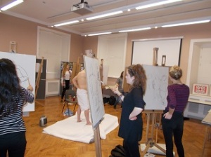 Portfolio Group for GCSE & A level students - Life drawing @ The Holburne Museum