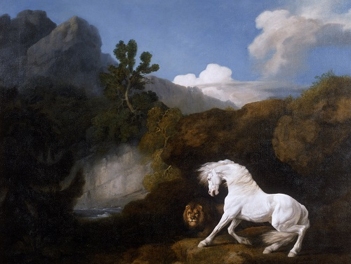 George Stubbs (1724-1806) Horse frightened by a lion (detail) 1770 Oil on canvas © National Museums Liverpool. Walker Art Gallery