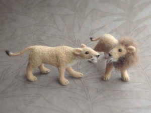 Needle Felting Lions @ The Holburne Museum