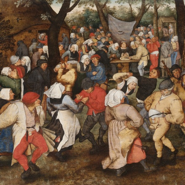 Pieter Brueghel the Younger, Wedding Dance in the Open Air, 1607–1614, oil on panel, 36.6 × 49 cm, A45, © The Holburne Museum. Photography by Dominic Brown.