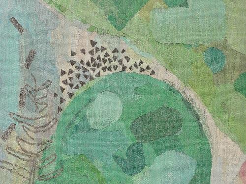 Yasuko Fujino, detail of 'In the Garden', silk, metal thread, mohair, 250 x 410cm©Yasuko Fujino