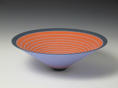 Sara Moorhouse, 'Equilume 01', white stoneware, underglaze colour, matt glaze © Sara Moorhouse