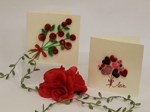 Valentine's Quilled Cards Workshop