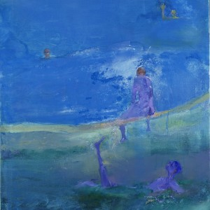 Anthony Fry, Krishna by the Lake, 2001, oil on canvas, 122 x 91 cm, ©Permission kindly granted by the estate of Anthony Fry/Browse & Darby Ltd