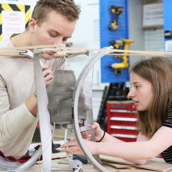 Lamp making. 3 Dimensional Student Exhibition Bath Spa University
