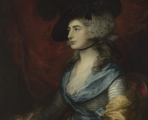 Mrs Siddons by Thomas Gainsborough on loan from the National Gallery