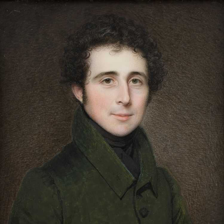 Portrait miniature: Sir William Holburne by Charles Jagger, watercolour on ivory, 1827.