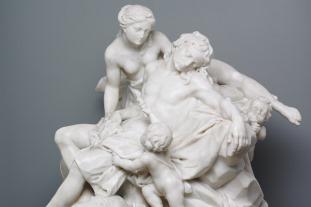 Diana and Endymion, Giuseppe Plura, marble, 1752