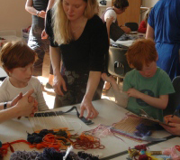A children's workshop at The Holburne Museum