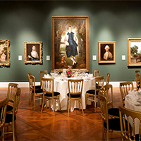 The Holburne Museum interior with places set for an event