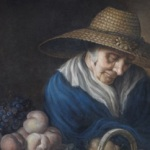 Unknown Artist: A market Women with Fruit. Eighteen century. Pastel on paper. 81.3X66 cm © The Holburne Museum