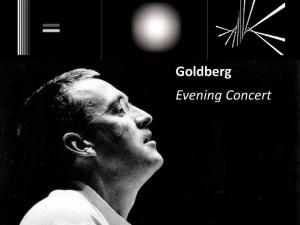 Goldberg @ The Holburne Museum