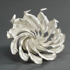 Spiritus centrepiece, 2010 Theresa Nguyen Britannia silver, fold-formed, hammered and soldered 19.5 x 26.5 x 24 cm Credit Line: Collection: The Worshipful Company of Goldsmiths