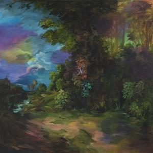 Djordje Ozbolt (b. 1967) Vague Memories 2016 Acrylic on canvas 240 x 240 cm / 94 1/2 x 94 1/2 inches