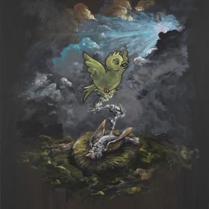 Djordje Ozbolt (b. 1967) Good Birds go to Heaven 2016 Acrylic on icon board 100 x 89.5 cm / 39 3/8 x 35 1/4 inches