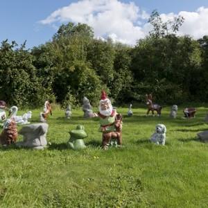 Djordje Ozbolt (b. 1967) DO 2016 Concrete garden gnomes, painted Dimensions variable