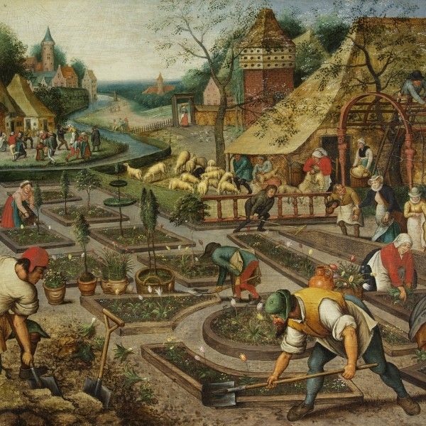 Pieter Brueghel the Younger, 'Spring', oil on panel, 60.5 x 75.8cm, 1632, Society of Antiquaries of London (Kelmscott Manor)