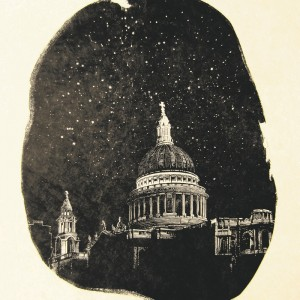 Anne Desmet, St Paul's: Stars, 2014. Wood engraving on Gampi Vellum paper © Anne Desmet RA
