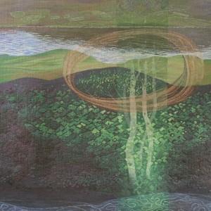 Joan Baxter, 'Hallaig 2', wool, silk, lurex, 188cm x 196cm © Joan Baxter
