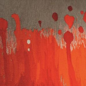 Misao Watanabe, detail of 'Red Scenery', wool, cotton, 195cm x 400 cm © Misao Watanabe