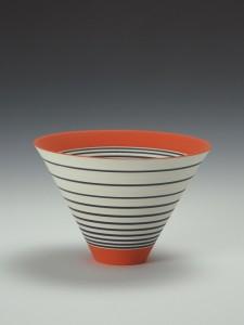 'Pulse 01', white earthenware, underglaze colour, matt glaze © Sara Moorhouse