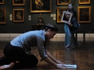 Moving Exhibition_Caption 'Laura Penlington, Lucy Everson, Amelia White'