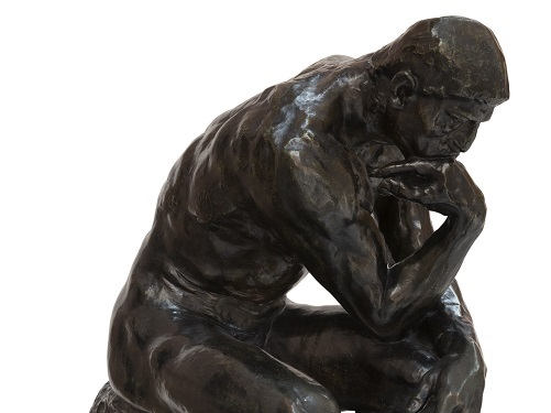 Auguste Rodin, The Thinker, 1880-81, The Burrell Collection © CSG CIC Glasgow Museums Collection (detail)