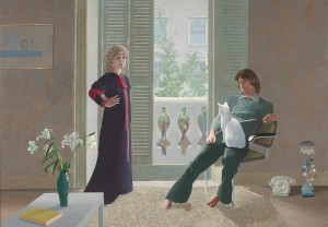 Visiting Masterpiece by Hockney @ The Holburne Museum