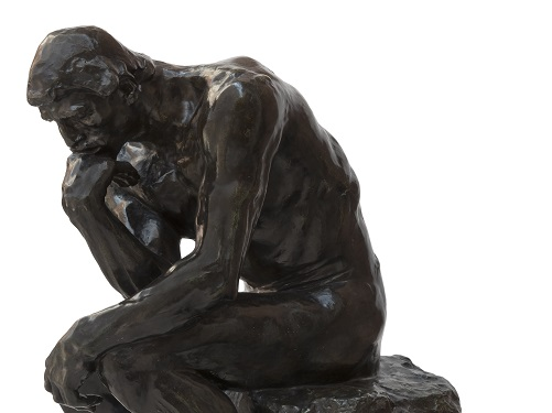 Auguste Rodin, The Thinker, 1880-81, The Burrell Collection © CSG CIC Glasgow Museums Collection