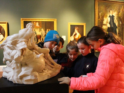 Children looking around The Holburne Collection