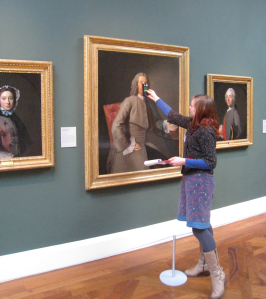 A volunteer in a gallery at The Holburne Museum