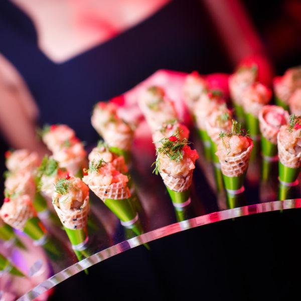 Prawn masala savoury cones