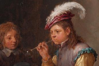 David Teniers Blowing Bubbles