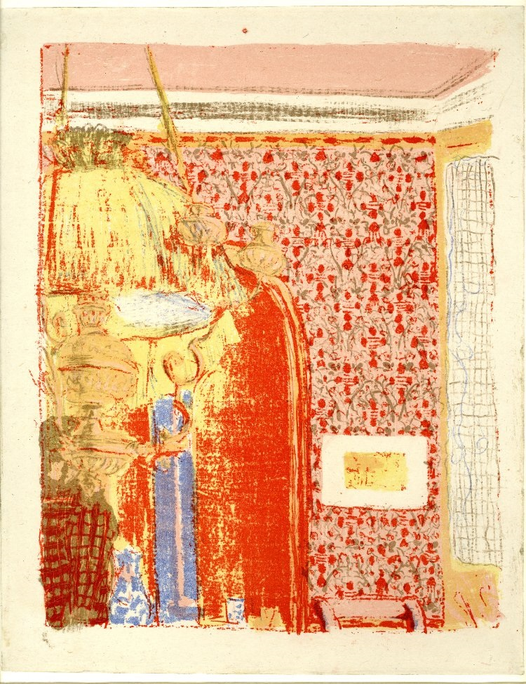Edouard Vuillard, Interior with Pink Wallpaper 1, 1899. British Museum