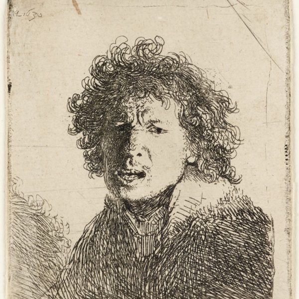 Self-portrait, open-mouthed, as if shouting, Rembrandt, 1630 © Ashmolean Museum, University of Oxford