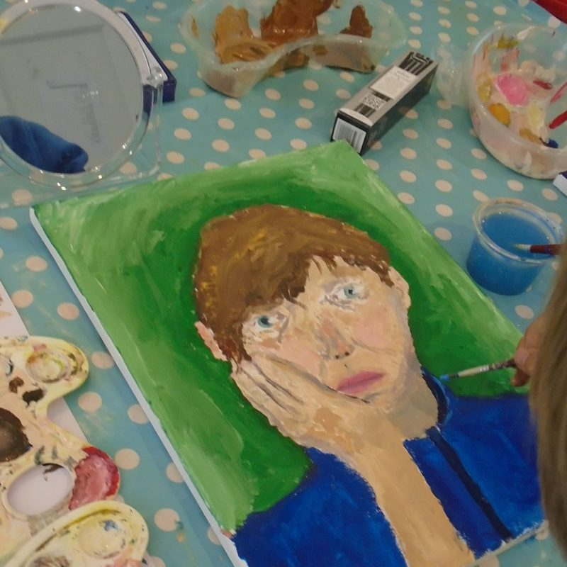 Art Masterclass for 11-18yrs: Painting Self-Portraits in Acrylics