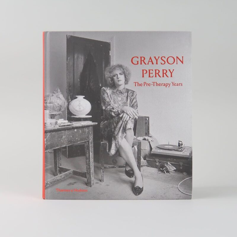 The black and white book cover of Grayson Perry, Pre-Therapy Years