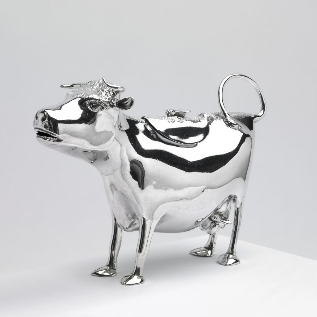 Silver cow creamer