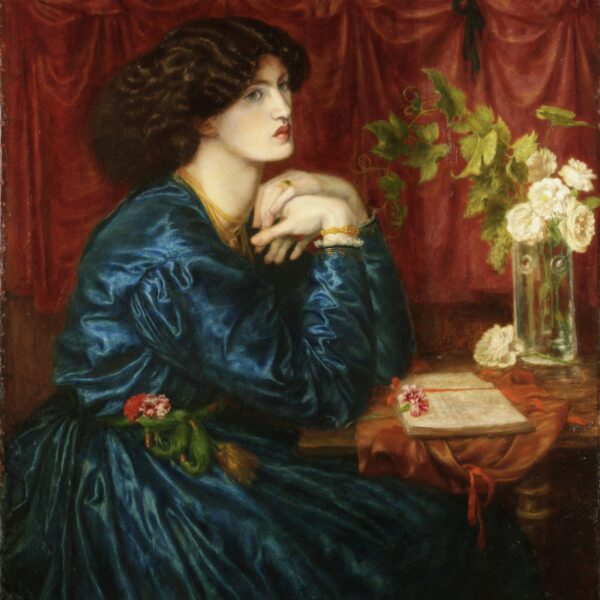 Blue Silk Dress (Jane Morris), Dante Gabriel Rossetti, 1868 © Society of Antiquaries of London: Kelmscott Manor